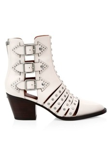 Coach Phoebe Studded Leather Cutout Booties