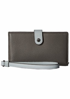 Coach Phone Wristlet in Color Block Leather