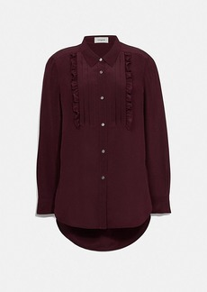 Coach pleated bib shirt