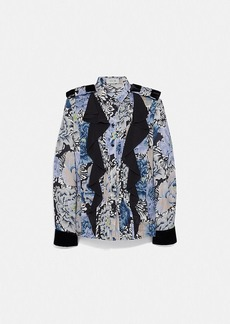 Coach pleated blouse with kaffe fassett print