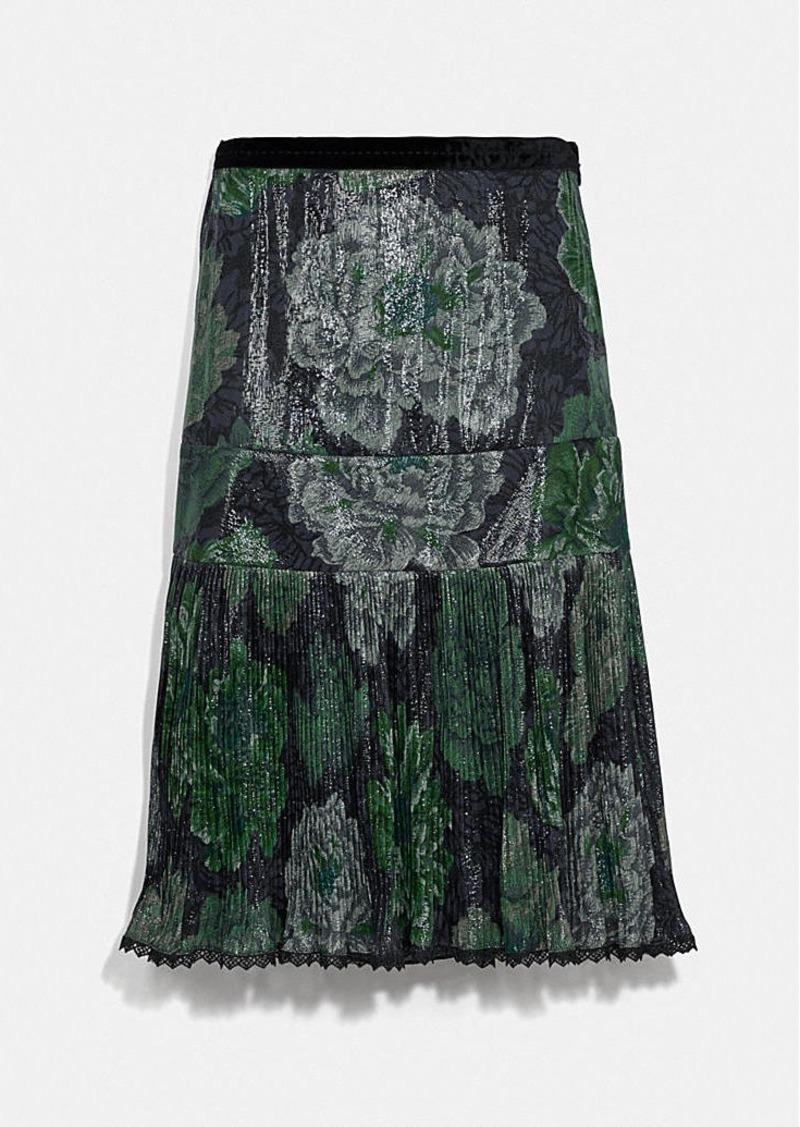 Coach pleated skirt with kaffe fassett print