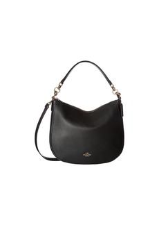 Coach Polished Pebbled Leather Chelsea 32 Hobo