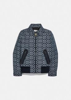 Coach signature chambray blouson jacket