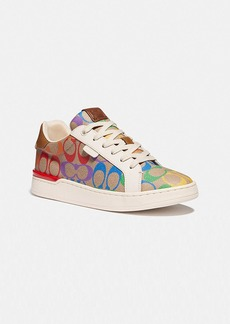Coach lowline low top sneaker in rainbow signature...