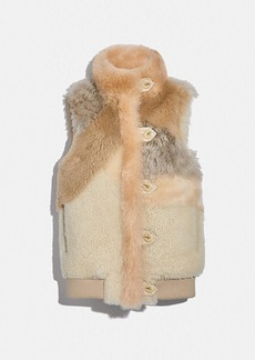 Coach pieced shearling vest