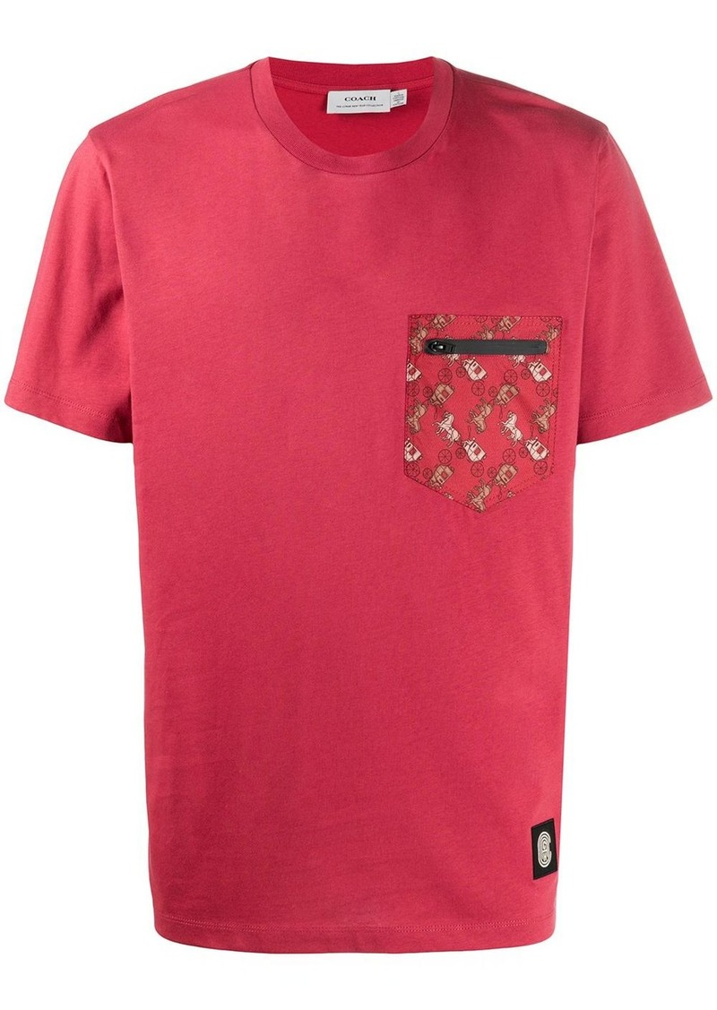 Coach printed pocket T-shirt