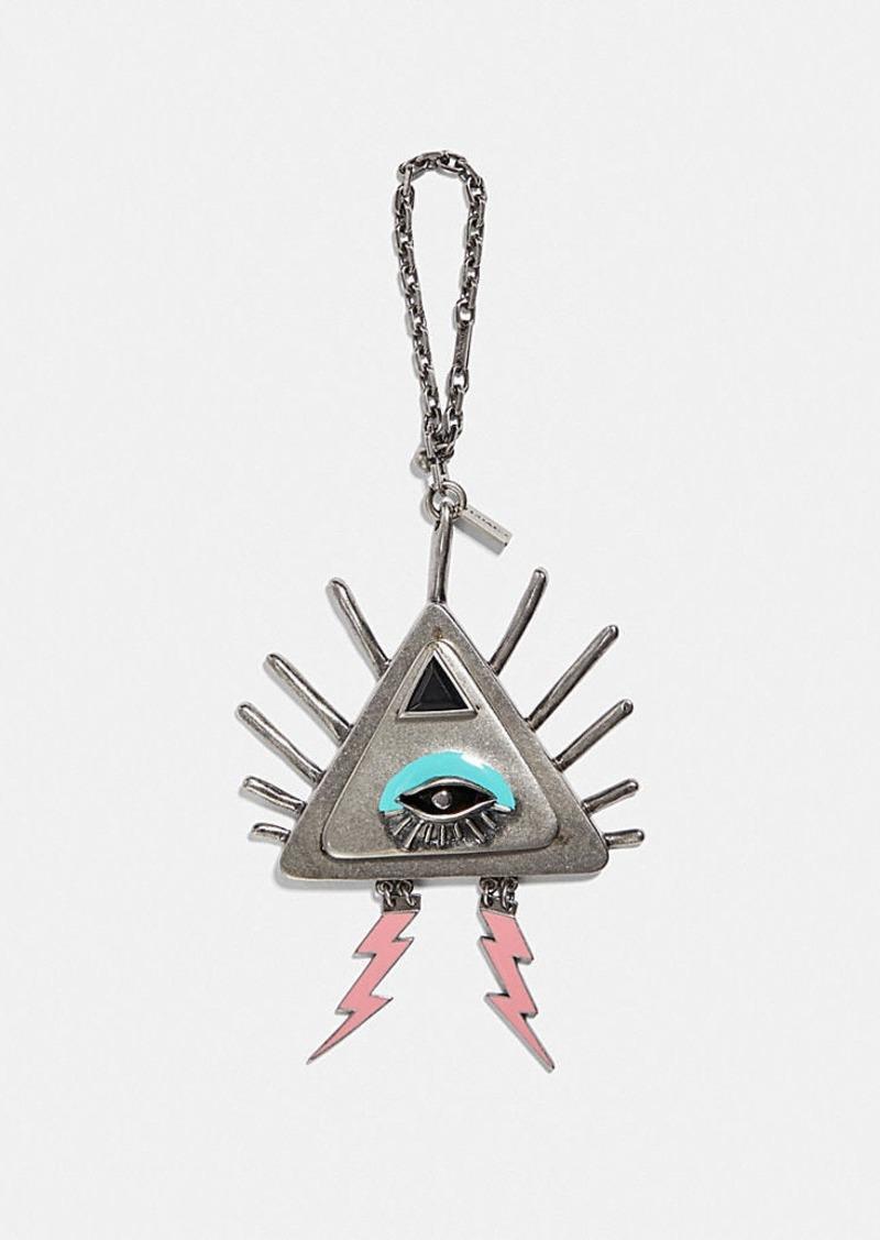 Coach pyramid eye bag charm