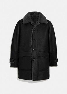 Coach reversible shearling coat