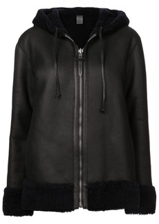 Coach reversible shearling hooded jacket