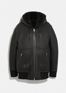 Coach reversible shearling hoodie