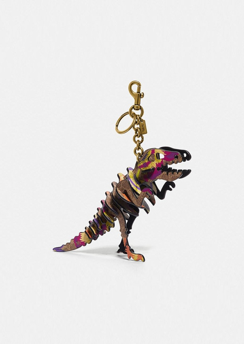 Coach rexy bag charm in signature canvas with kaffe...