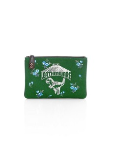Coach Rexy Canvas Turnlock Pouch