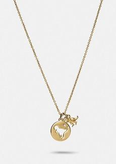 Coach rexy cutout necklace