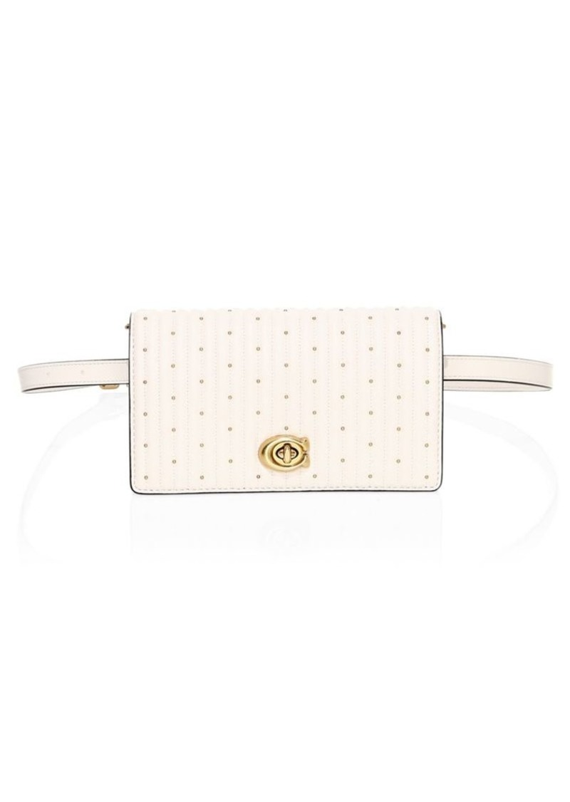 Coach Rivets Quilted Leather Belt Bag