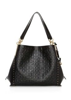 Coach Dalton Rivets Leather Hobo Bag
