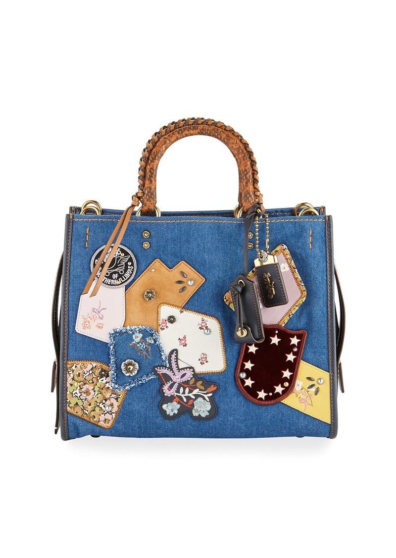 ... Patchwork Bag Handbags Coach Rogue Exotic Denim Patchwork Bag Source ·  BrandValue Coach COACH shoulder bag patchwork signature beige x basic  popularity ... c2b12c54cf0d5