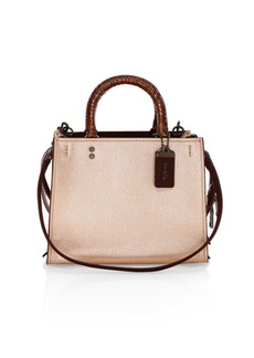 Coach Rogue Leather Top Handle Bag