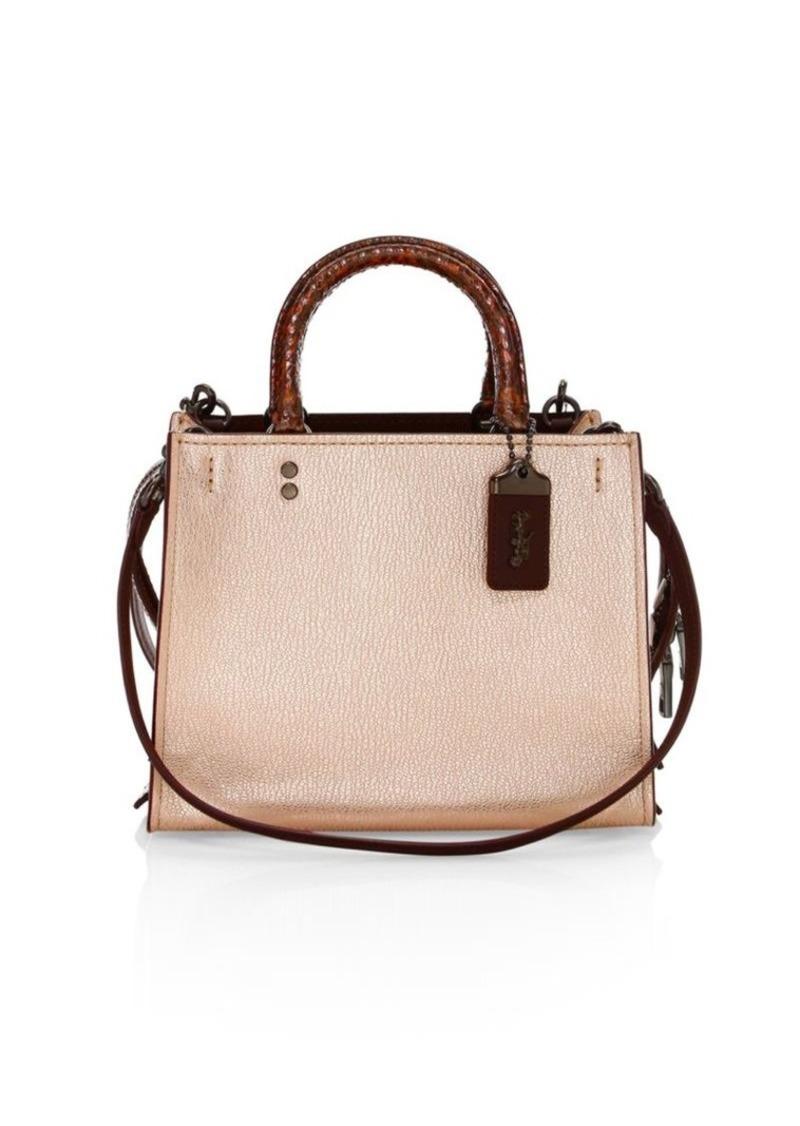 313aa77e1001 SALE! Coach Rogue Leather Top Handle Bag