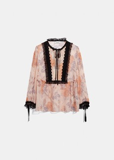 Coach rose print top