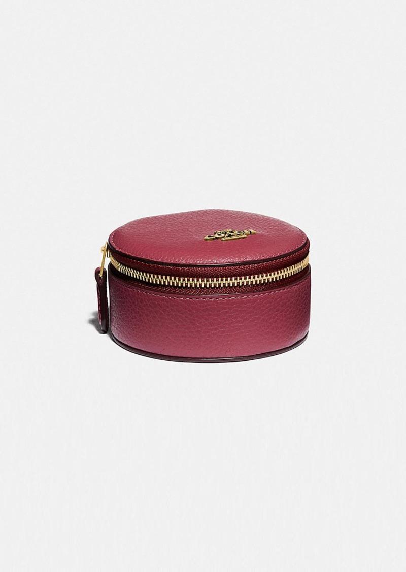 Coach round jewelery case