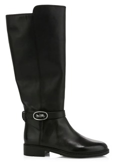 Coach Ruby Leather Knee-Hight Riding Boots