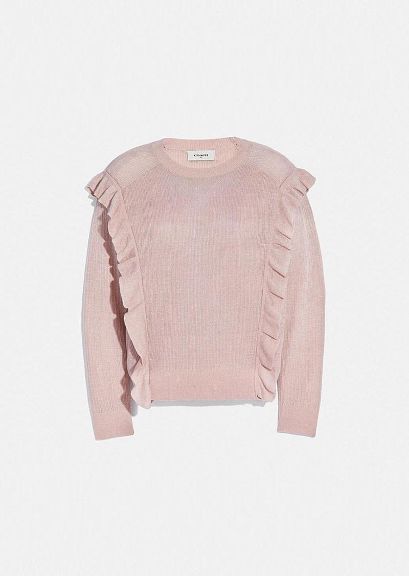 Coach ruffle sweater
