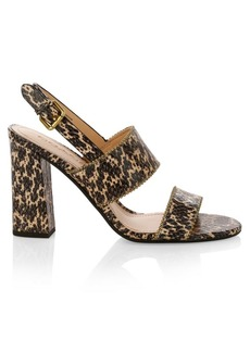 Coach Rylie BChain Leather Slingback Sandals