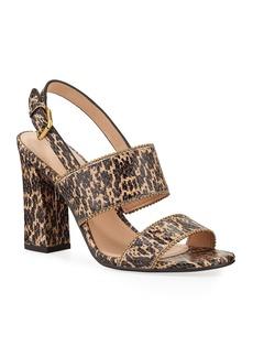 Coach Rylie Snake-Print Sandals