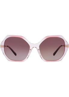 Coach sculpted hexagon-frame sunglasses