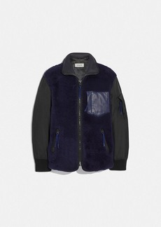 Coach shearling ma-1 jacket