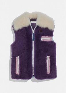 Coach shearling vest