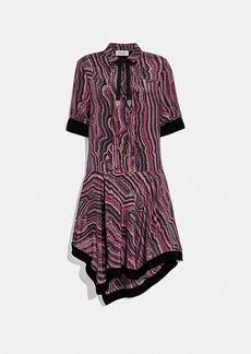Coach shirt dress with kaffe fassett print
