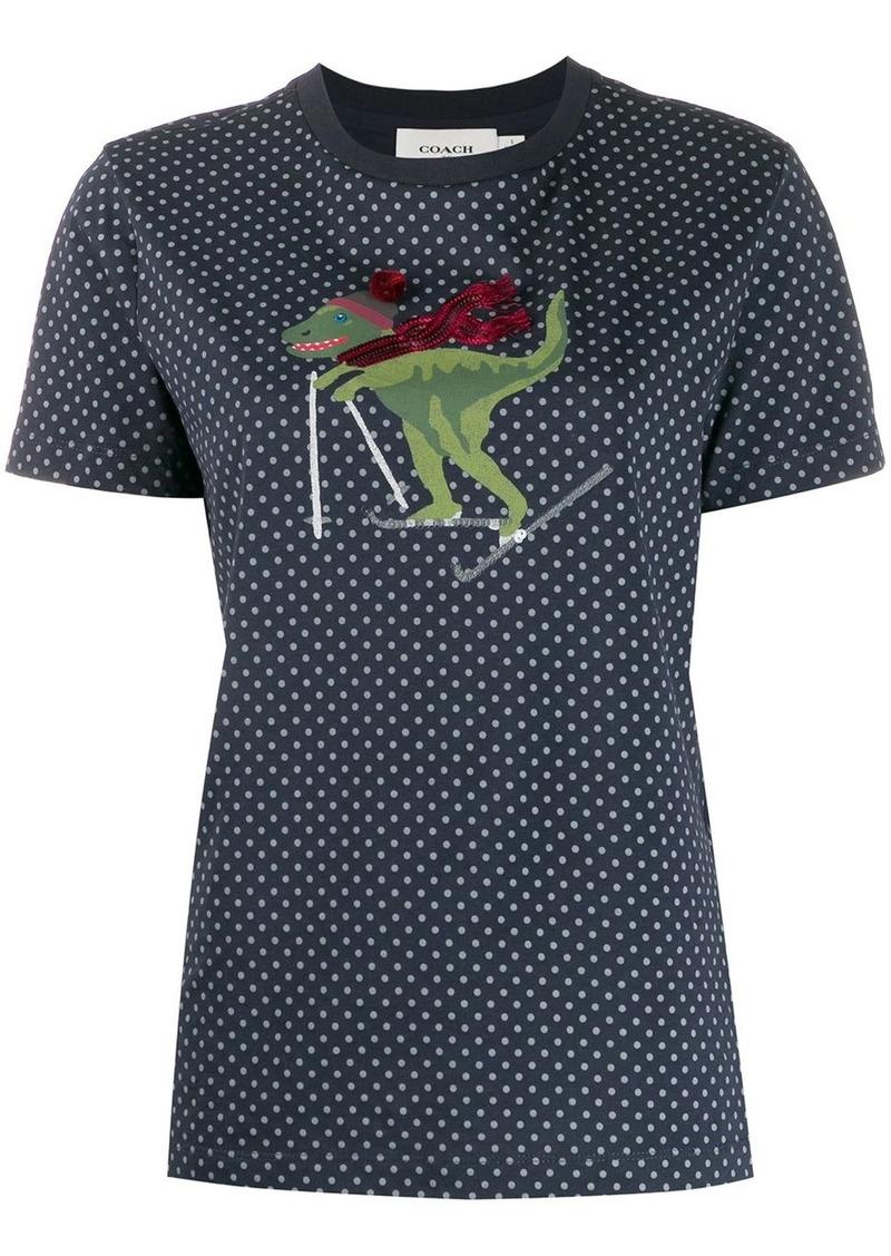 Coach short sleeve skiing dino T-shirt