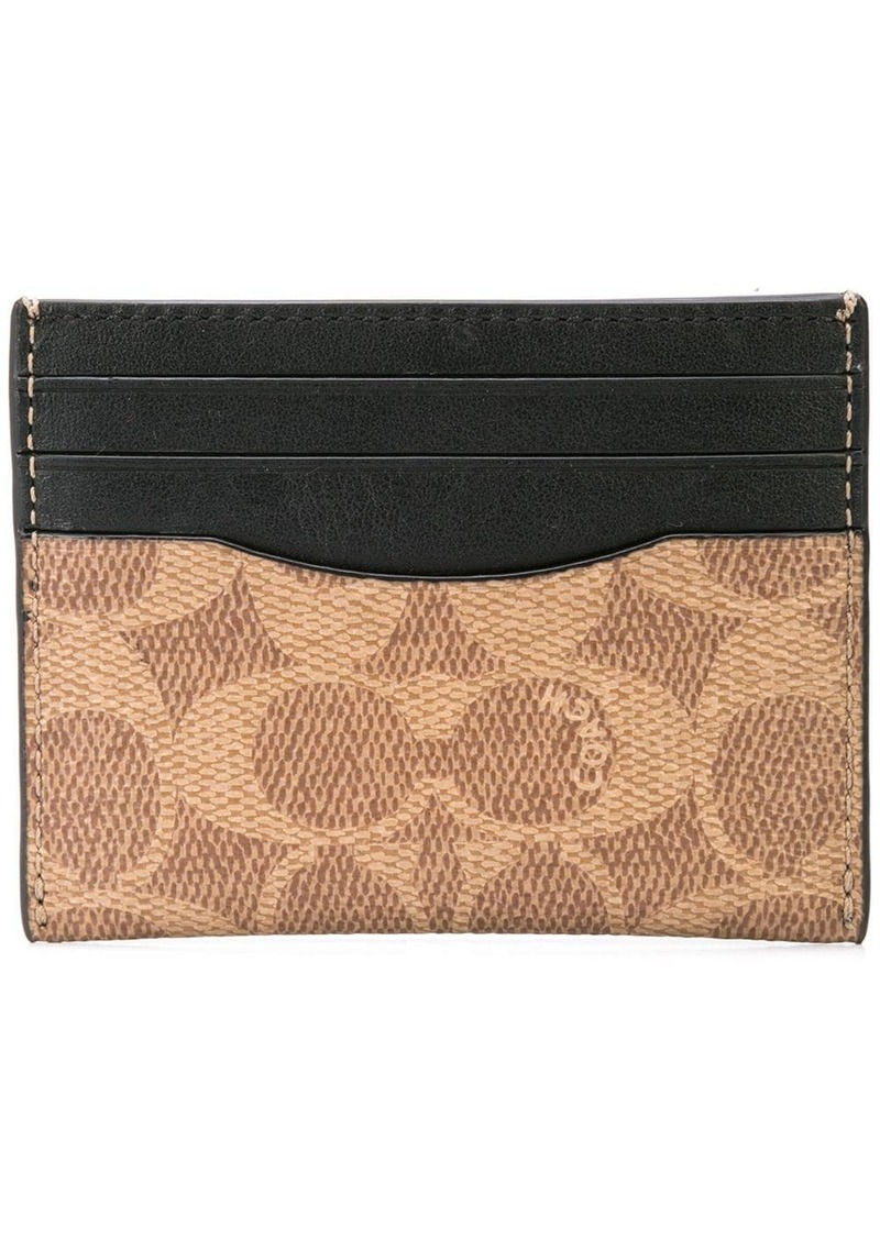 Coach signature canvas card case
