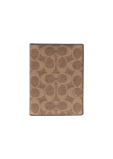 Coach Signature Canvas passport cover