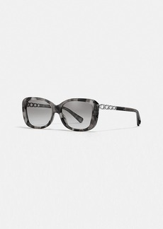 Coach signature chain rectangle sunglasses