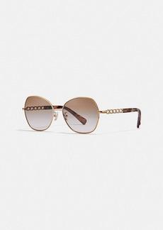 Coach signature chain round sunglasses