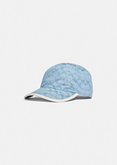 Coach signature chambray baseball cap