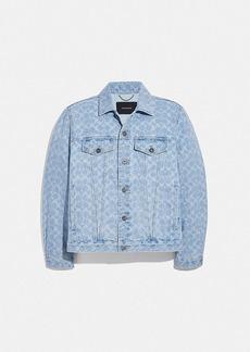 Coach signature denim jacket