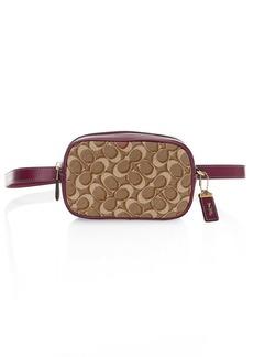 Coach Signature Jacquard & Leather Belt Bag