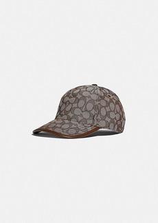 Coach signature jacquard baseball cap
