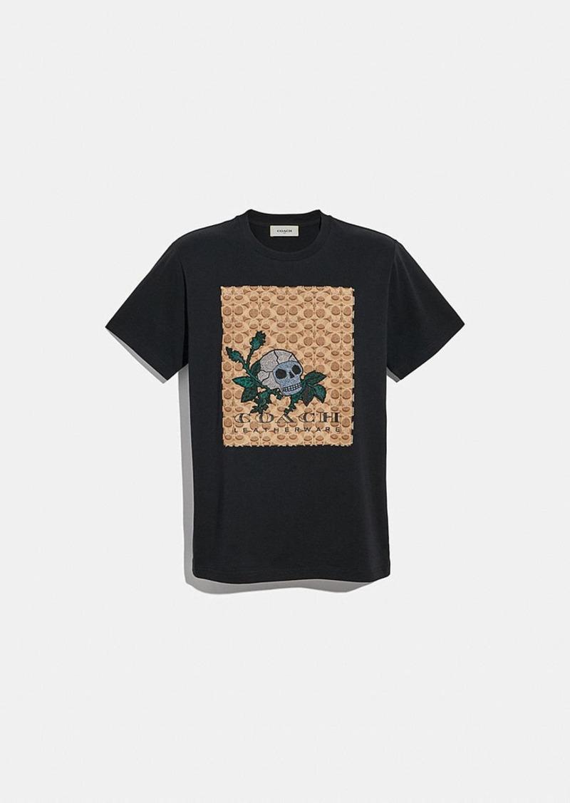 Coach signature skull t-shirt
