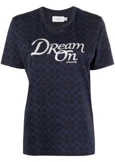 Coach slogan logo print T-shirt