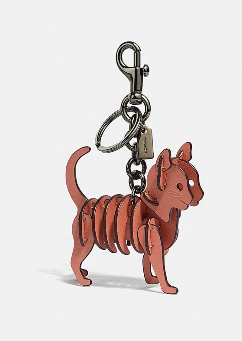 Coach small cat bag charm