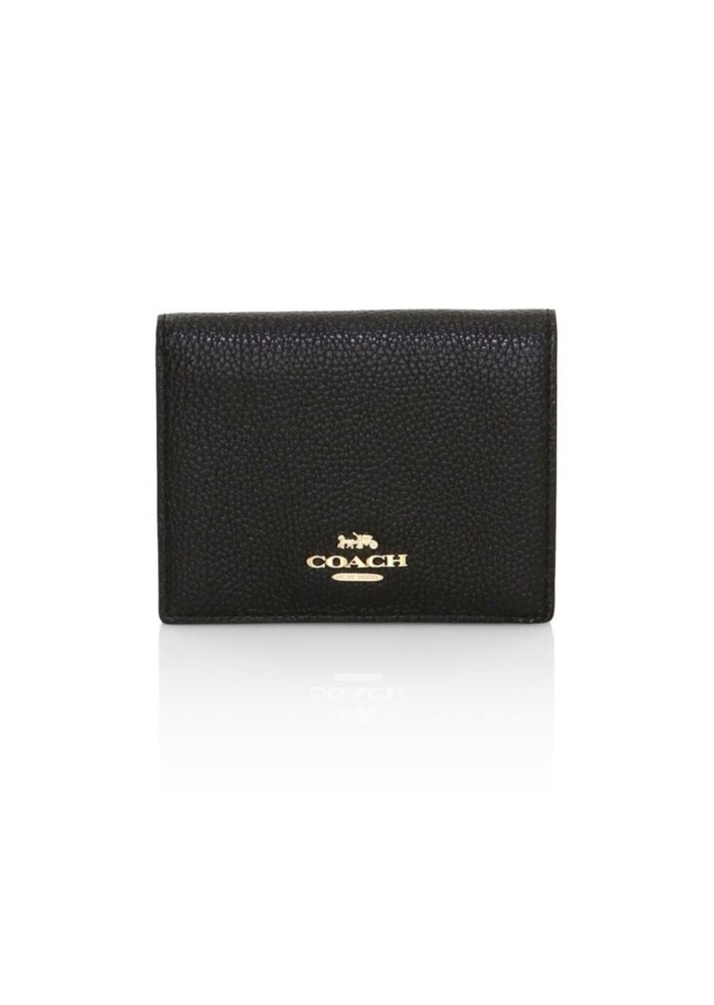 Coach Small Leather Bi-Fold Wallet