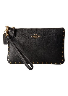Coach Small Wristlet with Rivets