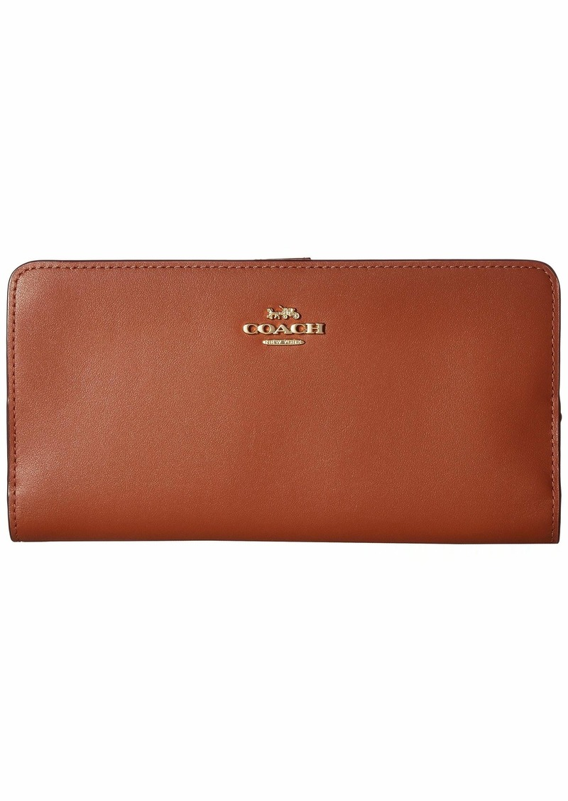 Coach Smooth Leather Skinny Wallet