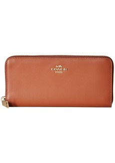 Coach Smooth Leather Slim Accordion Zip