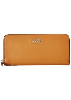 Coach Smooth Leather Small Accordion Zip