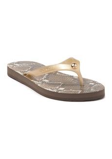 Coach Snakeskin Patterned Flip-Flop Sandal